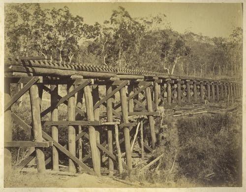 Brushy Creek railway bridge on the Bundaberg line, ca. 1882