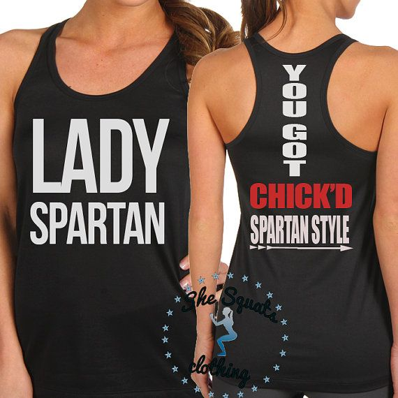 Spartan Chick'd Spartan Style Tank Top by SheSquatsClothing, $24.95