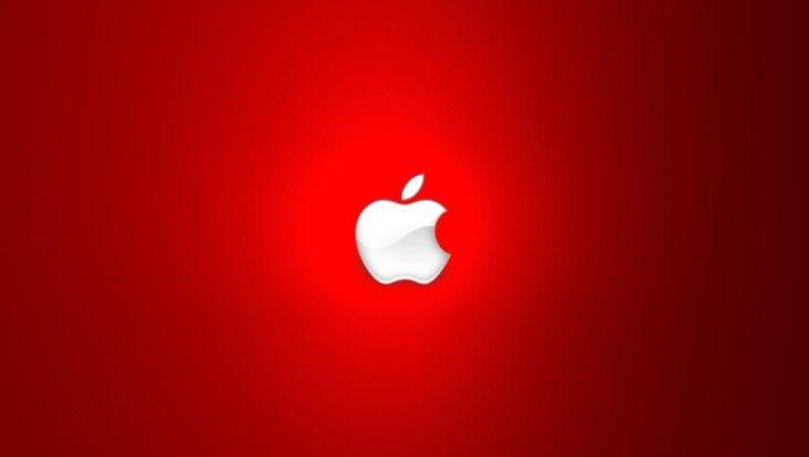 Apple logo rojo fondo iPad - Fondos de Pantalla HD para iPad ...
