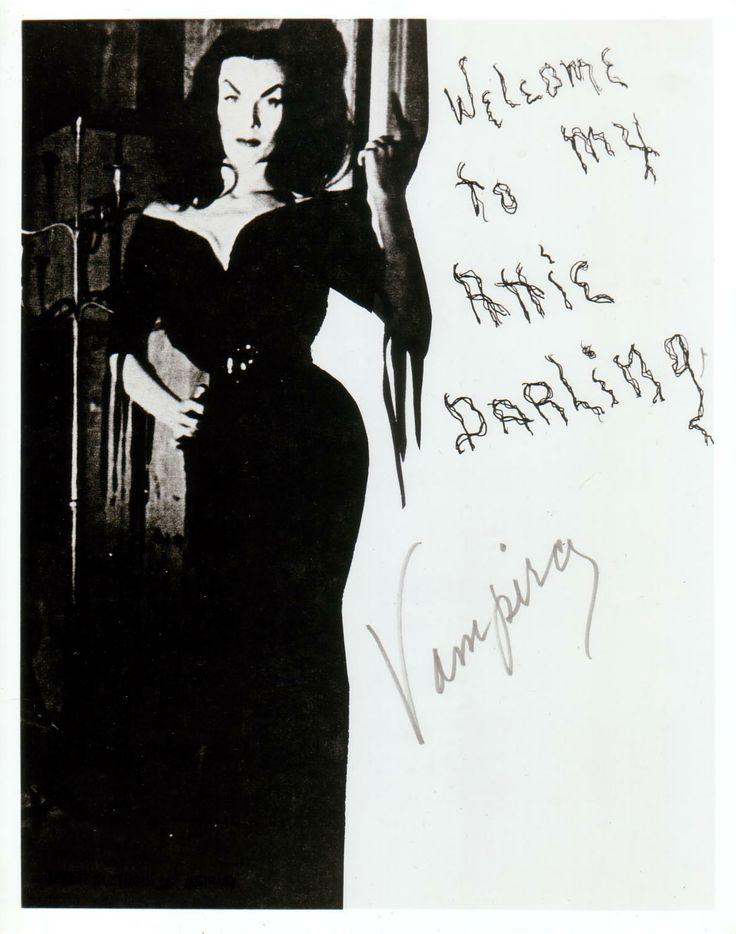 Vampira autograph