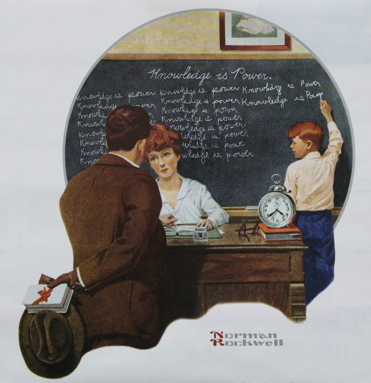 Knowledge is Power by Norman Rockwell