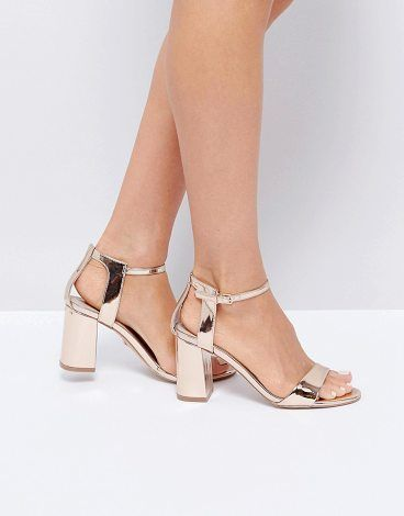 67de73356 Rose Gold Heeled Sandals by Carvela Kurt Geiger.