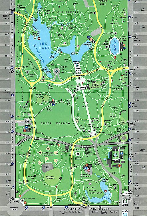 Map Of Central Park Printable  Barnes Amp Noble Visitors