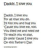 preschool poems for daddy | ... child paste a photo of himself/herself on the page alongside the poem