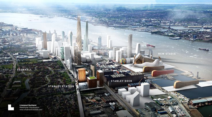 Liverpool North / Urban Design and massing exploration. www.whatnextliverpool.com
