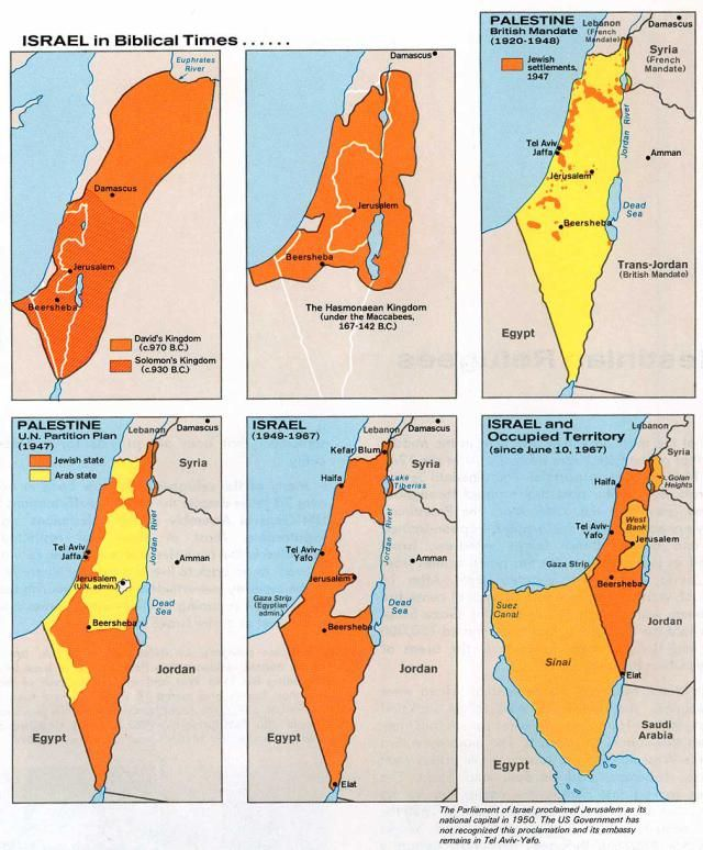 Biblical History Maps: Historical Maps of Israel