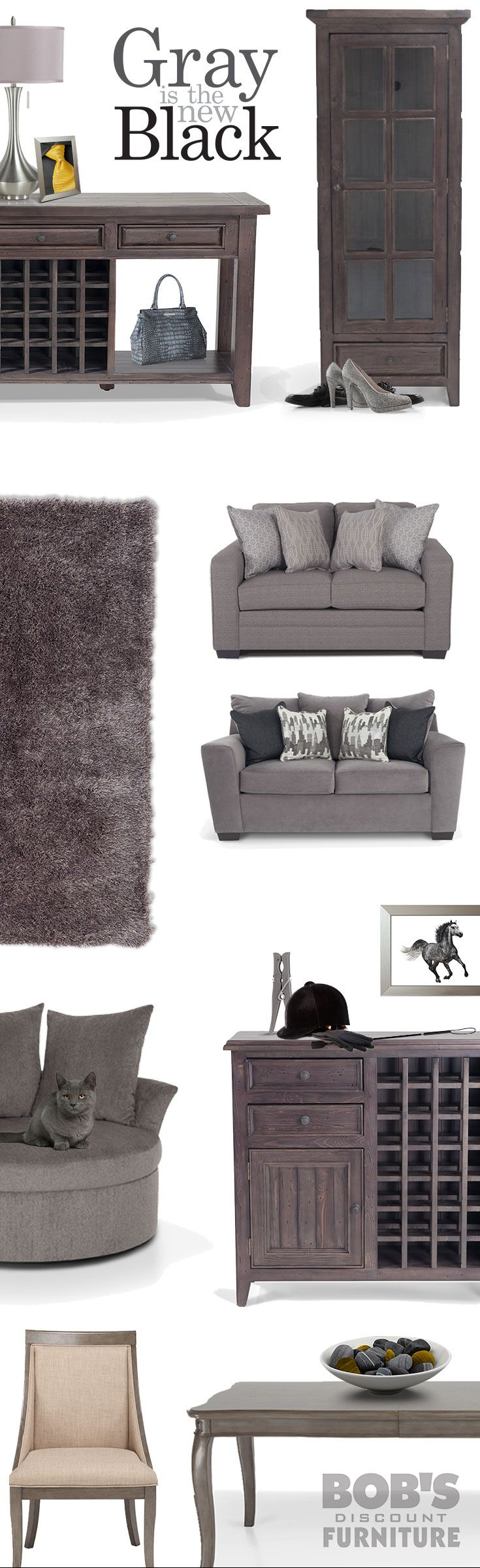 24 best Gray is the New Black images on Pinterest | Living room sets ...