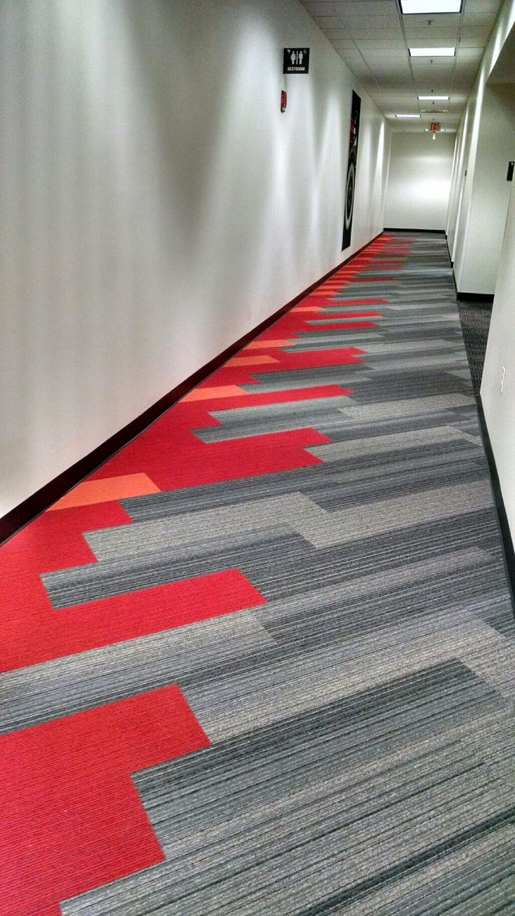 Interface Corridor Shiver Me Timbers   Hickory With Online Poppy And  Mandarin · Hallway CarpetOffice Carpet TilesFloor ...