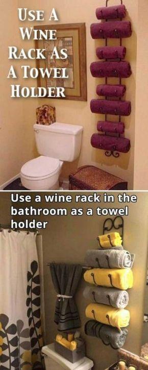 Dekorative rustikale Aufbewahrungsprojekte für Ihr Badezimmer