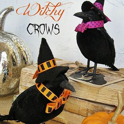 halloween fun wisteria inspired witchy crows - Halloween Crows