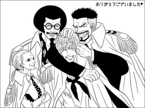The Old Goats and Kid - Rosinante, Sengoku, Garp, Tsuru