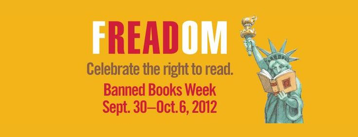 Banned books week. September 30 to October 6 2012.