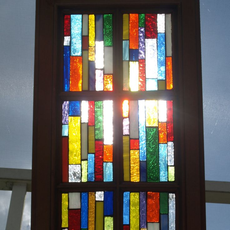 Stained Glass Mosaic Window Wood Vertiglo C By ARTfulSalvage, $225.00