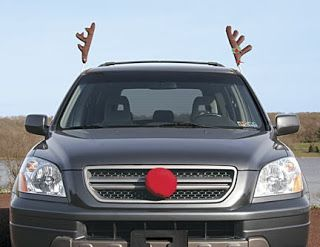6 Tackiest Christmas Car Decorations You WANT - Rudolph Costume