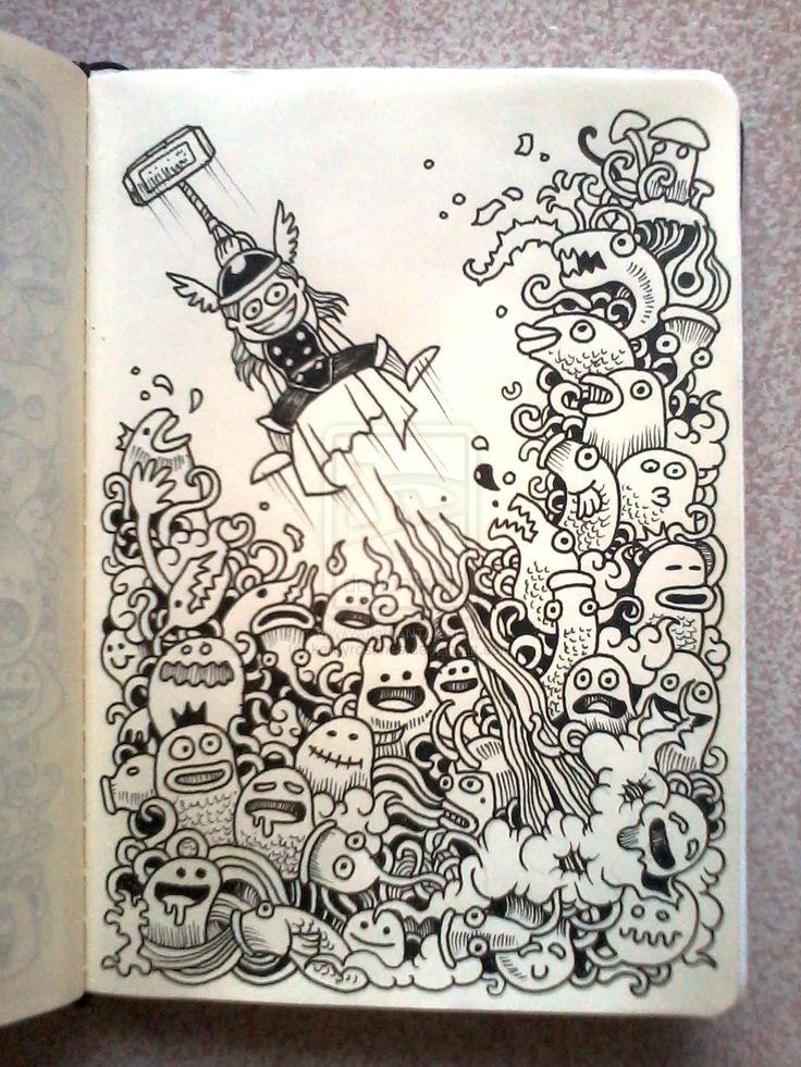 94 best images about doodle art monsters on pinterest for Doodle art monster