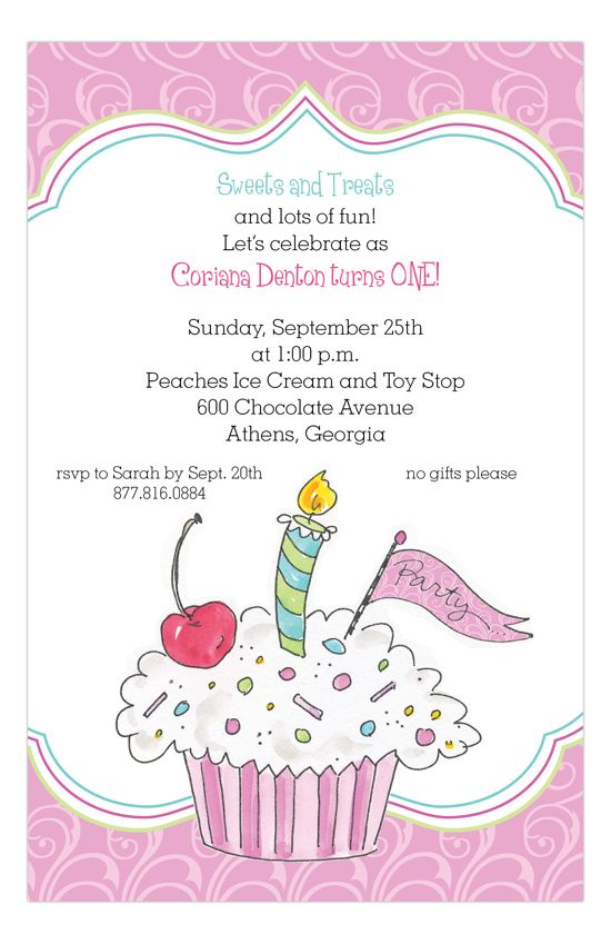 The 25+ best Cupcake invitations ideas on Pinterest Cupcake - first birthday invitations templates