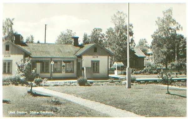 Ulvö station 1950-tal - vykort
