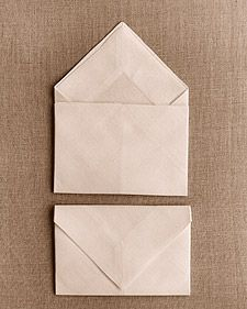 How to create a napkin envelope fold.