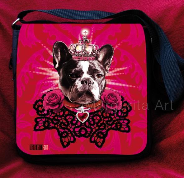 French Bulldo carlin le roi sac à main dames chien