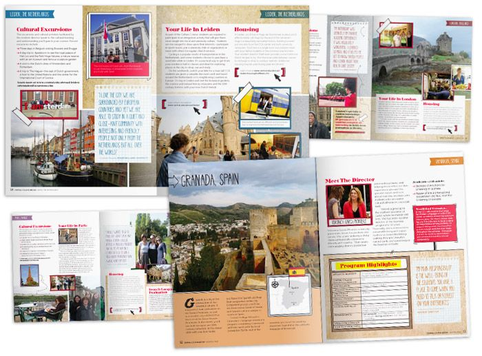 Red Dot Advertising  Design  Central College Abroad Brochure