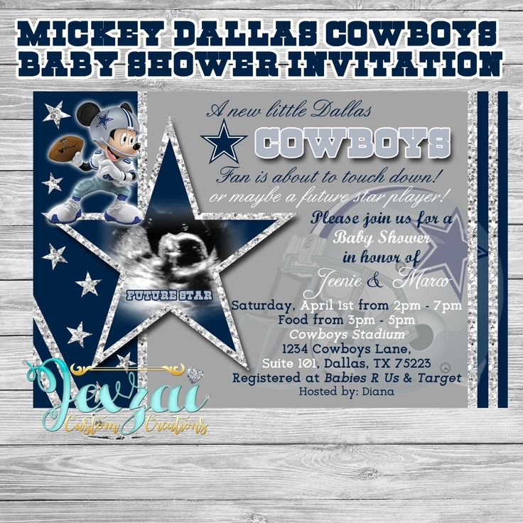 55 best Jexzai Custom Creations images – Dallas Cowboys Party Invitations