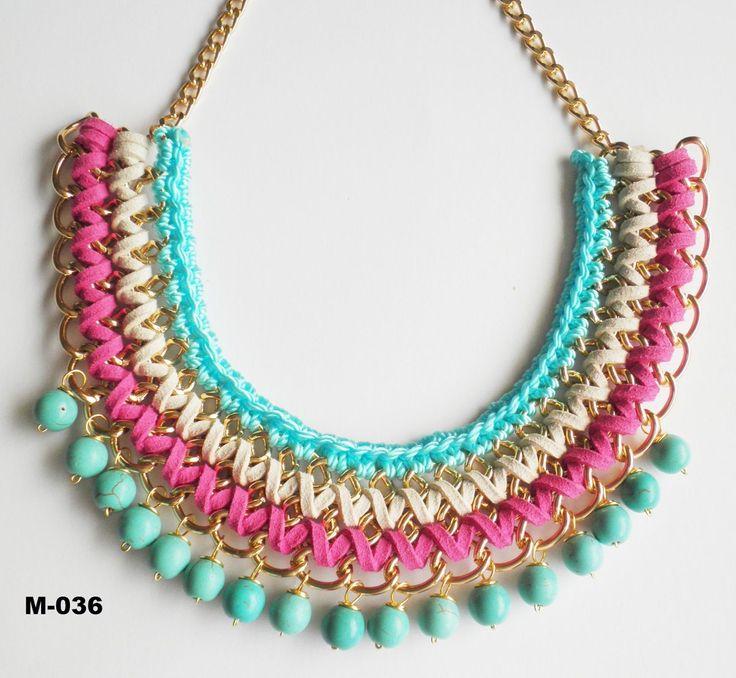collares con perlas de colores - Buscar con Google