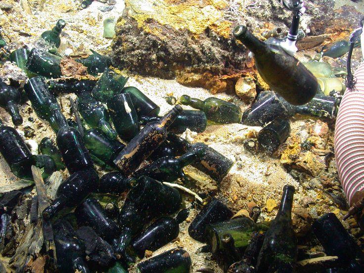 Bottles Carpet the SS Republic Shipwreck Site