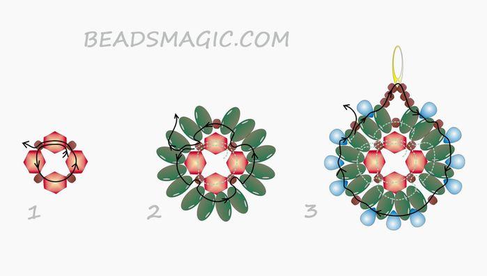 free-beading-pattern-earrings-tutorial-instructions-1-1024x580 (700x396, 131Kb)