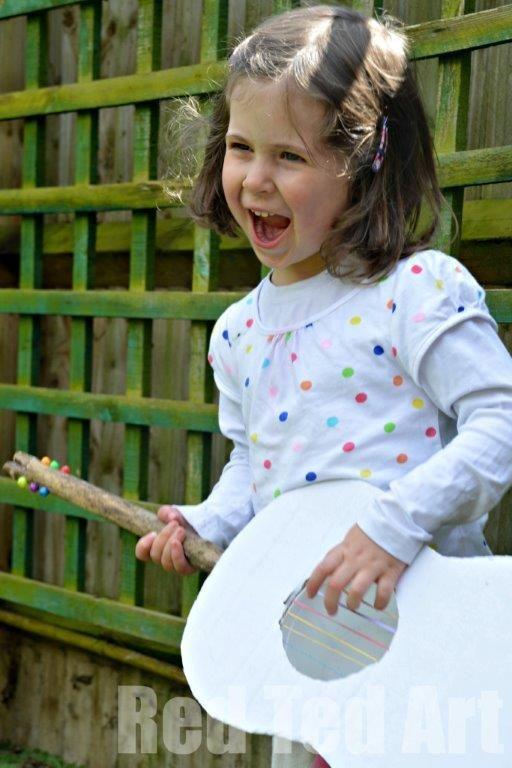 Gitarre mit Kindern selbst bauen