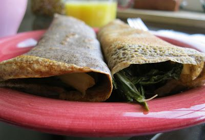 ... with a life: Culinary Risk: Buckwheat Crepes with Brie and Swiss Chard