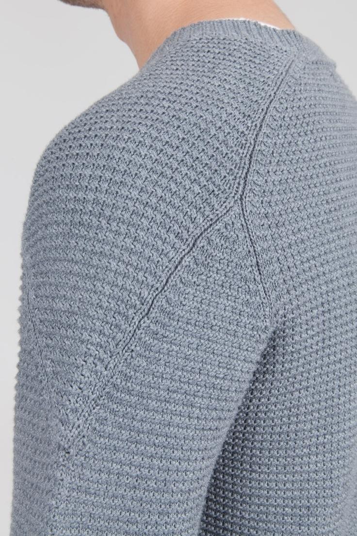 Tuck Stitch Jumper - Pebble Grey