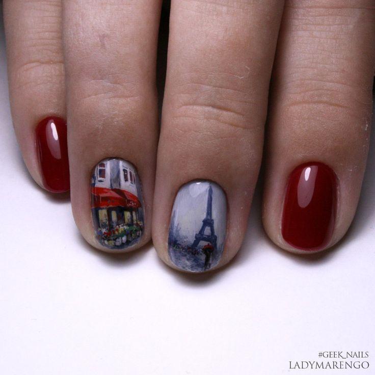 #geeknails #ladymarengo #шеллак #гельлак #нейларт #ногти #маникюр #дизайнногтей #nailart #naildesign  #paris
