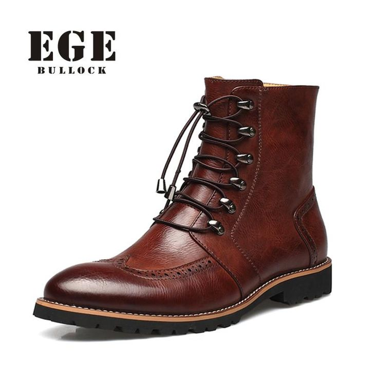 New Arrival Fashion Bullock shoes,Handmade super warm Genuine leather winter boots Men,Casual British style Snow boots for men