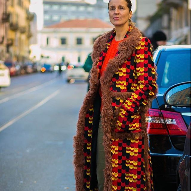 #New on #STYLEDUMONDE  http://www.styledumonde.com  with @karla_otto #KarlaOtto at #milan #fashionweek #mfw #outfits #prints #looks #streetstyle #streetfashion #mode