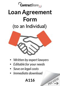 Loan Agreement Form Template (to an individual)