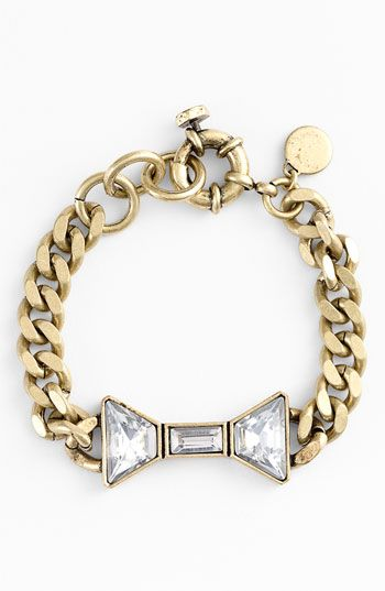 MARC BY MARC JACOBS 'ID Jewels' Bow Bracelet Antique GoldBows Ties, Bow Bracelet, Chains, Jacobs Bows, Marcjacobs, Marc Jacobs, Jewels Bows, Arm Candies, Bows Bracelets