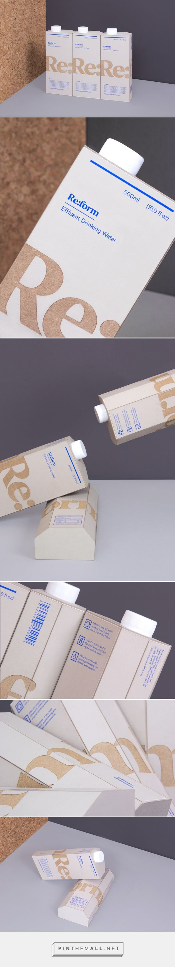 Re:form. Rethink the way you drink. #packaging #design (View more at www.aldenchong.com)