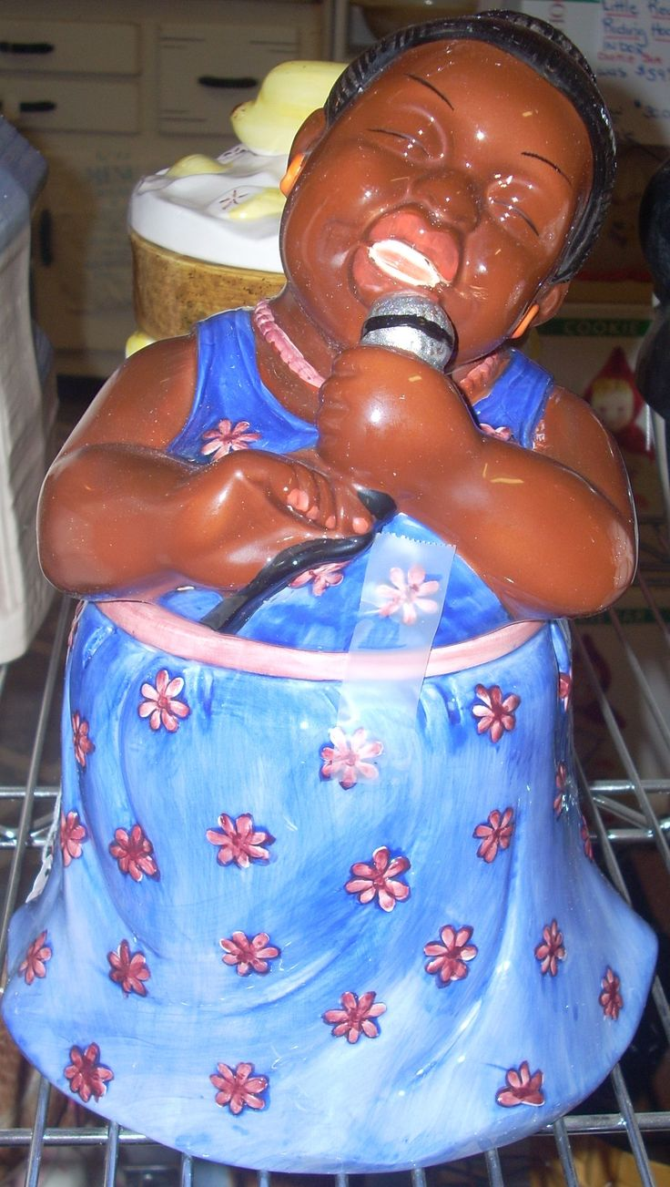 African American Singer, Cookie Jar on Collectors Quest