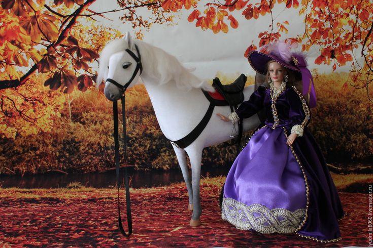 Купить Костюм для верховой езды для кукол Tonner 16 дюймов - тёмно-фиолетовый, верховая езда