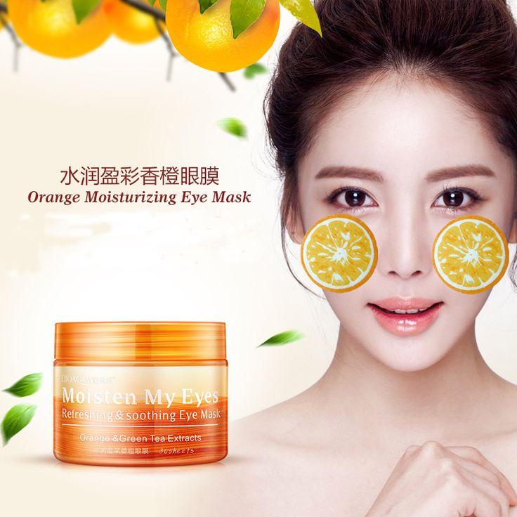 BIOAQUA 36 Sheets/Bottle Moisturizing Ageless Under Eye Dark Circle Remover Orange Eye Mask Black Eye Patch
