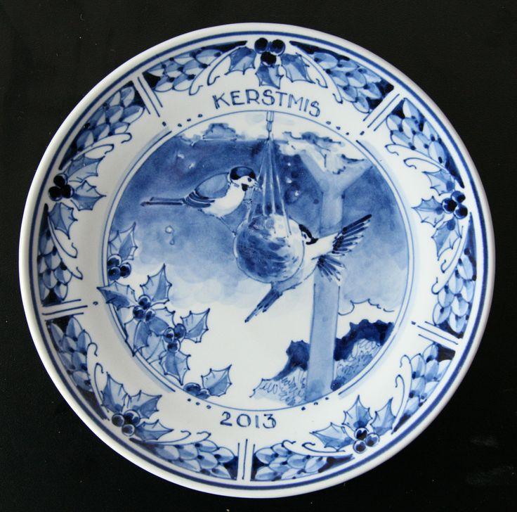 Christmas Delft Blue Plate design 2