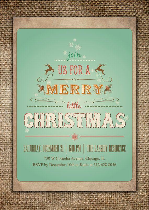 11 best Christmas Party Invitation Ideas images on Pinterest - printable dinner invitations