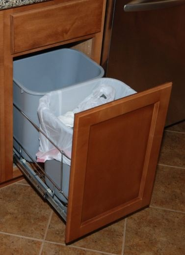 kitchen trash bin cabinet trash can cabinet garbage and recyclables 22078