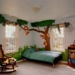 i love the idea of painting a tree on a wall and having a fun room...