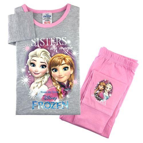 Sødt nattøj med Anna og Elsa fra Disney-filmen, Frost