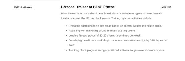Personal Trainer Resume Guide 12 Resume Examples Pdf 2020 Resume Guide Resume Examples Resume Template Examples