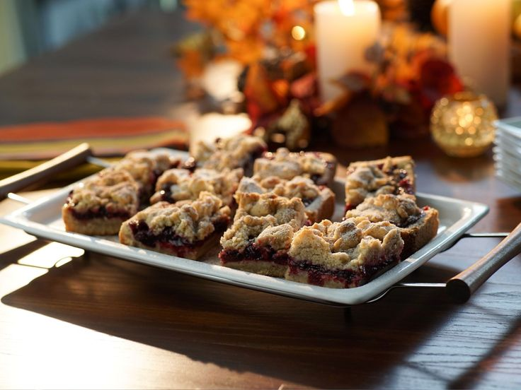Cranberry Pomegranate Crumb Bars recipe from Valerie Bertinelli via Food Network