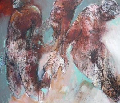 #Schilderij 'Vliegen, vallen' van Marjan Nagtegaal is te koop via #Kunstmarktplaats.nl  http://kunstmarktplaats.nl/ads/vliegenvallen/ #art #kunst