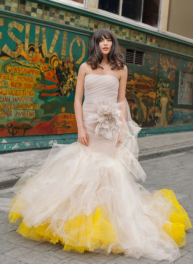 Yellow Wedding Gown Yellow Dipped Wedding Gown By Vera Wang Vera