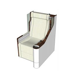 Business class airline seat sketchup model